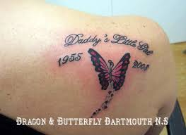 collection of 25 memorial butterfly on back shoulder
