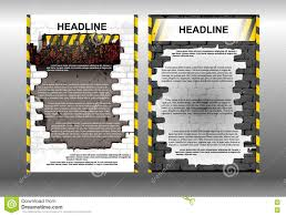 infographic brochure template building stock vector image 73585710