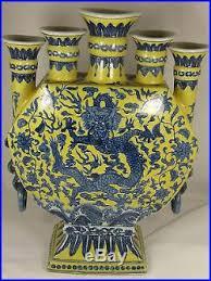 Large Candle Vase Antique Chinese Porcelain Gauranteed Guangxu Dragon Vase Large