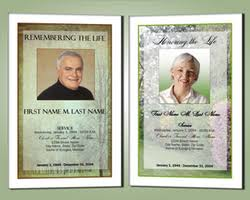funeral programs online memorials offers professionally designed funeral program