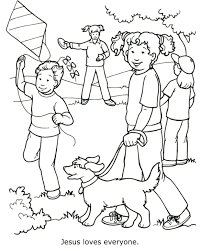 jesus loves everyone coloring page sunday pinterest