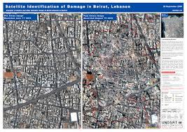 Beirut On Map Satellite Identification Of Damage In Beirut Lebanon Unitar