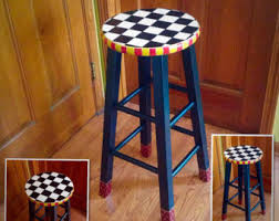 view hand painted bar stools by michelespraguedesign on etsy