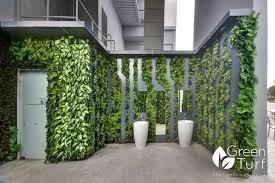 outdoor artificial vertical garden wall at jurong greenturf asia