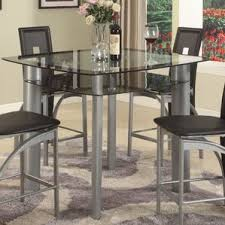 counter height glass kitchen u0026 dining tables you u0027ll love wayfair