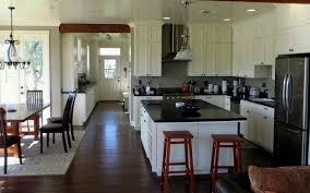 charming modern farmhouse kitchen black granite countertop white