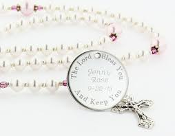 baptism engraving 14 best baptism rosaries images on baptism gifts