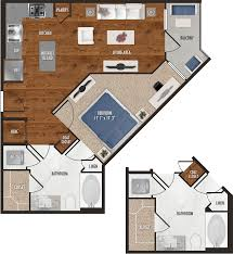 a9 one bedroom floor plan for alexan 5151