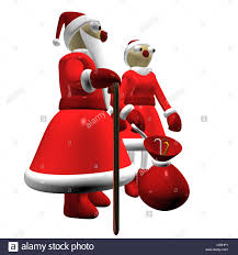 santa claus or father frost and the santa claus or the snow