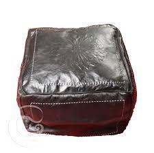 Black Leather Ottoman Red Square Leather Ottoman Marrakech Market