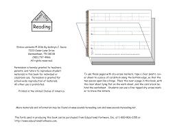 handwriting materials sound city reading
