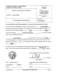 the state of california vs thomas retzlaff arrest warrant