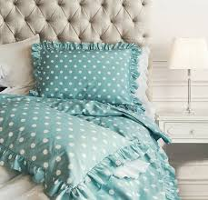Polka Dot Bed Sets by Amazon Com Chic Ruffled Edge Polka Dot Duvet Quilt Cover Classic