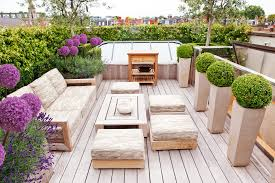 Modern Outdoor Rugs Chic Style Outdoor With Potted Plants Deck Contemporary And
