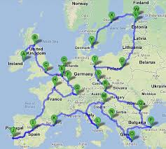 Road Trip Map Road Map Europe Route Planner Road Map Europe Route Planner
