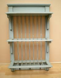 shabby chic duck egg blue kitchen wall plate rack free delivery