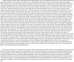 Sample Resume For Retired Police Officer by Officer Essay