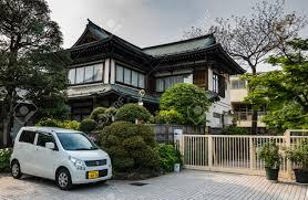 kawagoe japan may 1 2016 japanese style house in kawagoe