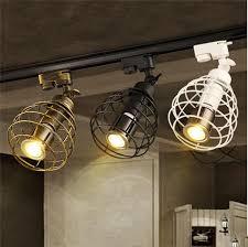 Kitchen Rail Lighting Black Rustic Led Track Light Cob 10w Ceiling Rail Lights Spotlight