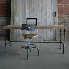 Small Wood Desk by Reclaimed Desk Modern Wood Office Desk Industrial Tables