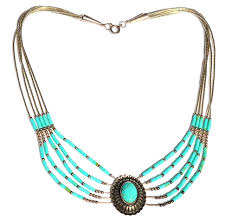 silver turquoise necklace images Vintage sterling liquid silver and turquoise native american jpg