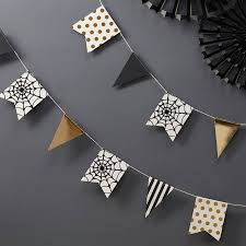 halloween gold gold foiled halloween bunting decoration by ginger ray