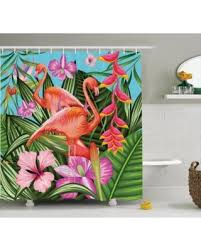 Hummingbird Bathroom Accessories by Red Summer Savings On Flamingo Decor Shower Curtain Set