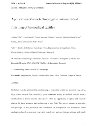 application of nanotechnology in antimicrobial finishing of