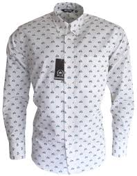 mens blue white scooter pattern button down shirt relco u2013 mr