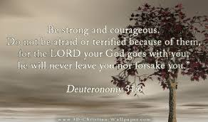 Inspirational Christian Memes - be strong and courageous do not be afraid or terrified because of