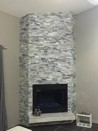 5 alaska gray sledge stone and white marble tiles installed 1 4