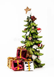 Ceramic Christmas Tree Decorations - ceramic christmas tree with gifts stock image image 35057269