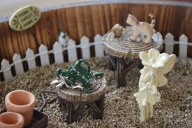 create a fairy house or fairy garden in your background