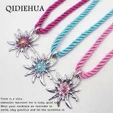 antique necklace pendants images Hot selling antique silver edelweiss necklaces pendants charm jpg