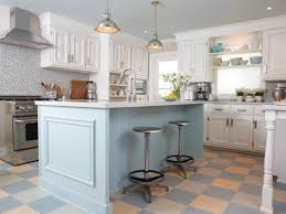 Cottage Kitchen Island by U Shape Kitchen Design And Decoration Using Light Grey Soft Orange