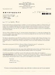 accident settlement letter template i got a civil relief action letter for shoplifting should i pay it walmart shoplifting civil demand letter from the law offices of michael ira asen pc