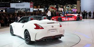 nissan 370z nismo wrapped 2015 nissan 370z nismo roadster vehicles on display