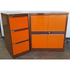 Brownbuilt Filing Cabinet Brownbuilt Brown And Orange Steel Storage And Filing Cabinets