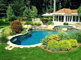 Backyard Pool Landscape Ideas Tropical Backyard Oasis Landscaping Around Fence Pool Designs For