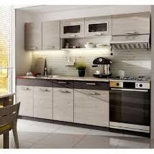 mobilier de cuisine baltic meubles cuisine topaze chêne cendré 2m40 6 meubles