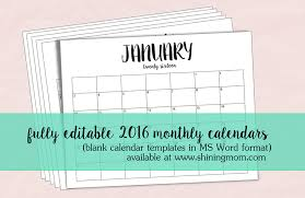 resume templates word free 2016 calendar just in fully editable 2016 calendar templates in ms word format
