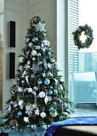 Silver Christmas Tree Baubles - christmas tree decorations blue and silver home design ideas