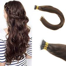micro ring extensions remy human nano ring hair extensions color 4 medium brown sunnyhair