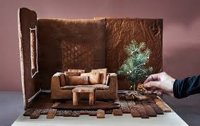 Gingerbread Rugs A Gingerbread Living Room