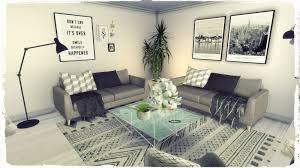 sims 4 grey deco livingroom build u0026 decoration for download
