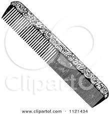 vintage comb retro vintage black and white ornate hair comb posters prints