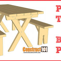 Picnic Table Plans Free Pdf by Free Picnic Table Plans Construct101