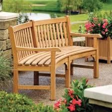 essex curved bench shorea oxford garden