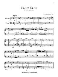 12 duets k 487 violin and viola violin viola n j w pepper