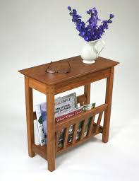 Build Wood End Tables by Small Side Table With Magazine Rack The Simple But Very Stylish